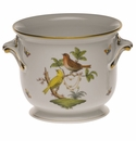 "Herend Rothschild Bird Medium Cachepot 6.5""H X 7.75""D"