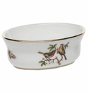 "Herend Rothschild Bird Mini Oval Bowl 3.75""L X 1.5""H"