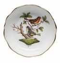 "Herend Rothschild Bird Mini Scalloped Dish 3.25""L X 0"