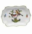 "Herend Rothschild Bird Mini Scalloped Tray 4.25""L X 3"