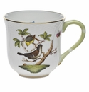 "Herend Rothschild Bird Mug - Motif 01 (10 Oz) 3.5""H"