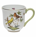"Herend Rothschild Bird Mug - Motif 06 (10 Oz) 3.5""H"