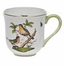 "Herend Rothschild Bird Mug - Motif 08 (10 Oz) 3.5""H"