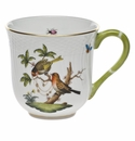 "Herend Rothschild Bird Mug - Motif 10 (10 Oz) 3.5""H"