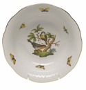 "Herend Rothschild Bird Oatmeal Bowl  6.5""D"