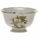 "Herend Rothschild Bird Open Sugar Bowl  3""D 1.5""H"