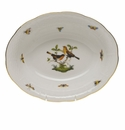 "Herend Rothschild Bird Oval Vegetable Dish  10""L X 8""W"