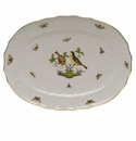 "Herend Rothschild Bird Platter  15""L X 11.5""W"