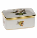 "Herend Rothschild Bird Rectangular Box 3""L X 2""W"