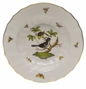 "Herend Rothschild Bird Rim Soup - Motif 01 9.5""D"