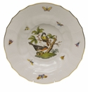 "Herend Rothschild Bird Rim Soup - Motif 02 9.5""D"