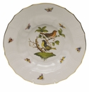 "Herend Rothschild Bird Rim Soup - Motif 03 9.5""D"