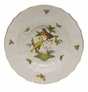 "Herend Rothschild Bird Rim Soup - Motif 05 9.5""D"