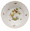 "Herend Rothschild Bird Rim Soup - Motif 06 9.5""D"