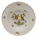 "Herend Rothschild Bird Rim Soup - Motif 07 9.5""D"