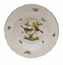 "Herend Rothschild Bird Rim Soup - Motif 09 9.5""D"