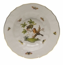 "Herend Rothschild Bird Rim Soup - Motif 10 9.5""D"