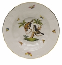 "Herend Rothschild Bird Rim Soup - Motif 12 9.5""D"