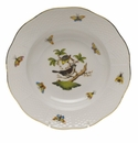 "Herend Rothschild Bird Rim Soup Plate - Motif 01 8""D"