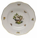 "Herend Rothschild Bird Rim Soup Plate - Motif 02 8""D"