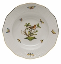 "Herend Rothschild Bird Rim Soup Plate - Motif 03 8""D"