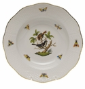 "Herend Rothschild Bird Rim Soup Plate - Motif 04 8""D"