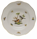 "Herend Rothschild Bird Rim Soup Plate - Motif 05 8""D"