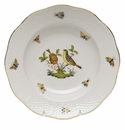 "Herend Rothschild Bird Rim Soup Plate - Motif 07 8""D"