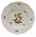 "Herend Rothschild Bird Rim Soup Plate - Motif 08 8""D"