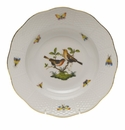 "Herend Rothschild Bird Rim Soup Plate - Motif 09 8""D"