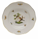 "Herend Rothschild Bird Rim Soup Plate - Motif 10 8""D"