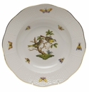 "Herend Rothschild Bird Rim Soup Plate - Motif 11 8""D"