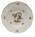 "Herend Rothschild Bird Rim Soup Plate - Motif 12 8""D"