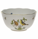 "Herend Rothschild Bird Round Bowl  (3.5 Pt) 7.5""D"