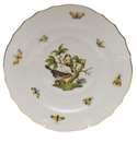 "Herend Rothschild Bird Salad Plate - Motif 02 7.5""D"