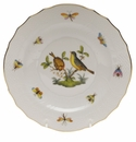 "Herend Rothschild Bird Salad Plate - Motif 07 7.5""D"