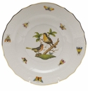 "Herend Rothschild Bird Salad Plate - Motif 08 7.5""D"