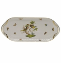 "Herend Rothschild Bird Sandwich Tray  14.5""L X 6""W"