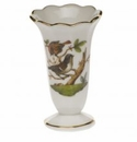 "Herend Rothschild Bird Scalloped Bud Vase  2.5""H"