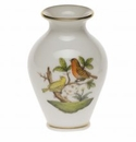 "Herend Rothschild Bird Small Bud Vase With Lip 2.5""H"