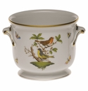 "Herend Rothschild Bird Small Cachepot 5.75""H X 6.5""D"