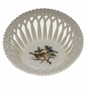 "Herend Rothschild Bird Small Openwork Basket 3.75""D"
