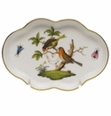 "Herend Rothschild Bird Small Scalloped Tray  5.5""L"