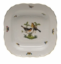 "Herend Rothschild Bird Square Fruit Dish  11""Sq"