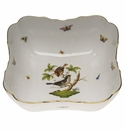 "Herend Rothschild Bird Square Salad Bowl  10""Sq"