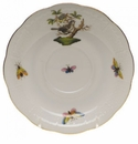 "Herend Rothschild Bird Tea Saucer - Motif 01 6""D"