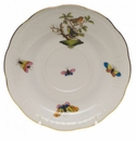 "Herend Rothschild Bird Tea Saucer - Motif 03 6""D"