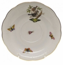 "Herend Rothschild Bird Tea Saucer - Motif 04 6""D"