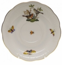 "Herend Rothschild Bird Tea Saucer - Motif 05 6""D"