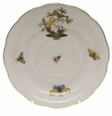 "Herend Rothschild Bird Tea Saucer - Motif 06 6""D"